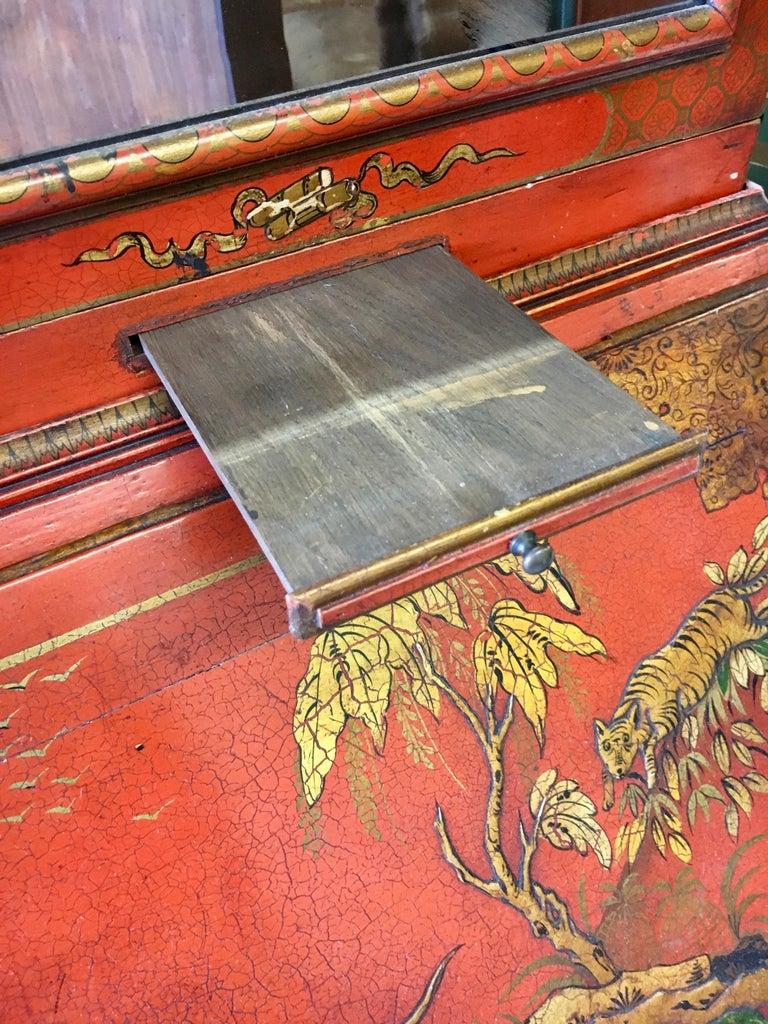 Brass 19 Century Italian Secretary Cabinet Desk For Sale