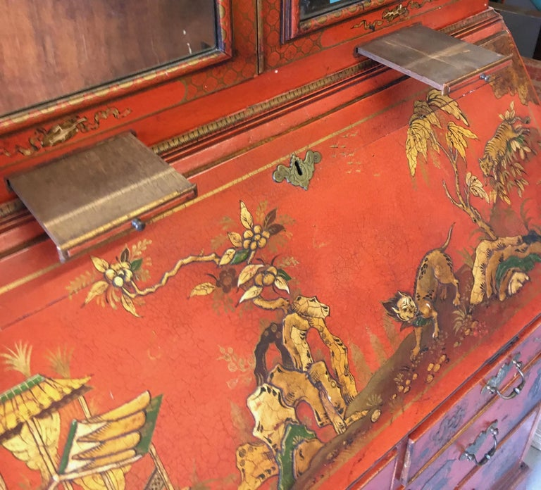 19 Century Italian Secretary Cabinet Desk For Sale 1