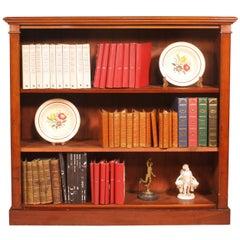 19 Century Mahogany Open Bookcase from England