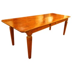 19th Century Refectory Table in Cherrywood