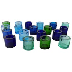 19 Iittala Candle Holders for Tealights in Art Glass. Marimekko. 20th Century