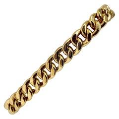 19 Karat Yellow Gold Hollow Cuban Curb Link Bracelet