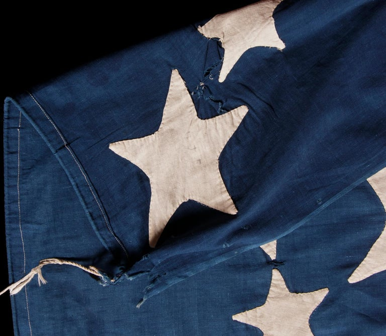 19 Star American Flag with Stars in an Spectacular Starburst