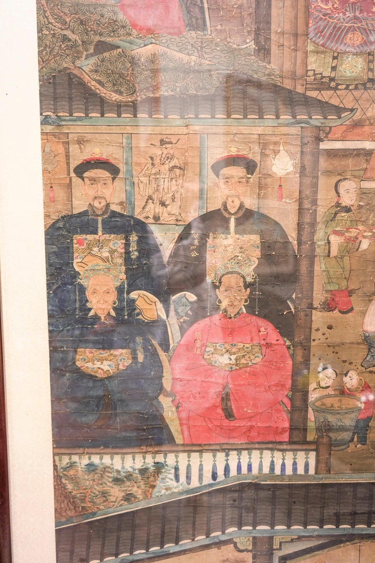 19th Century Chinese Guan, Xu Drawing on Paper,