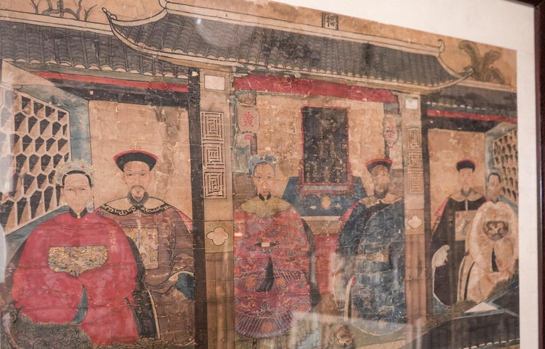 Qing 19th Century Chinese Guan, Xu Drawing on Paper,