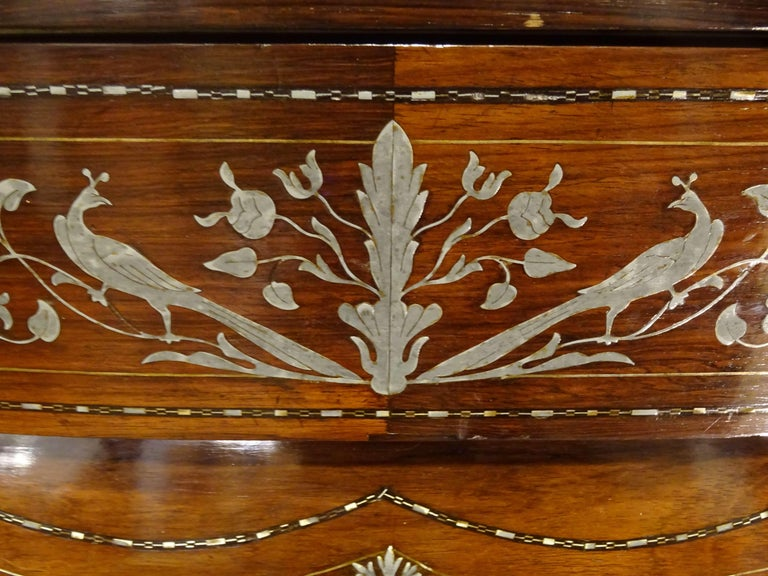 19th Century Dark Wood and Silver Inlaid Spanish Chest of Drawers, circa 1830 For Sale 8