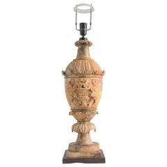 19th Century Large Electrified Alabaster Table Lamp