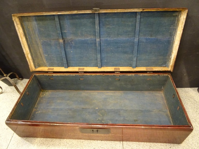 Late 19th Century Red Lacquer Chinese Storage Chest For Sale 6