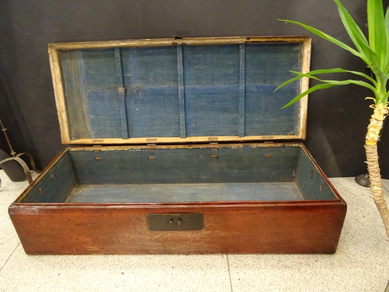 Late 19th Century Red Lacquer Chinese Storage Chest For Sale 9