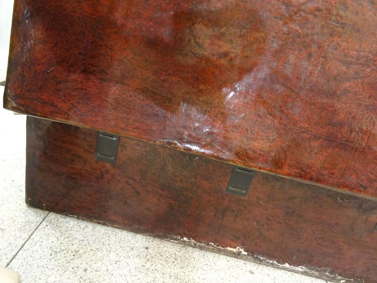 Late 19th Century Red Lacquer Chinese Storage Chest For Sale 14