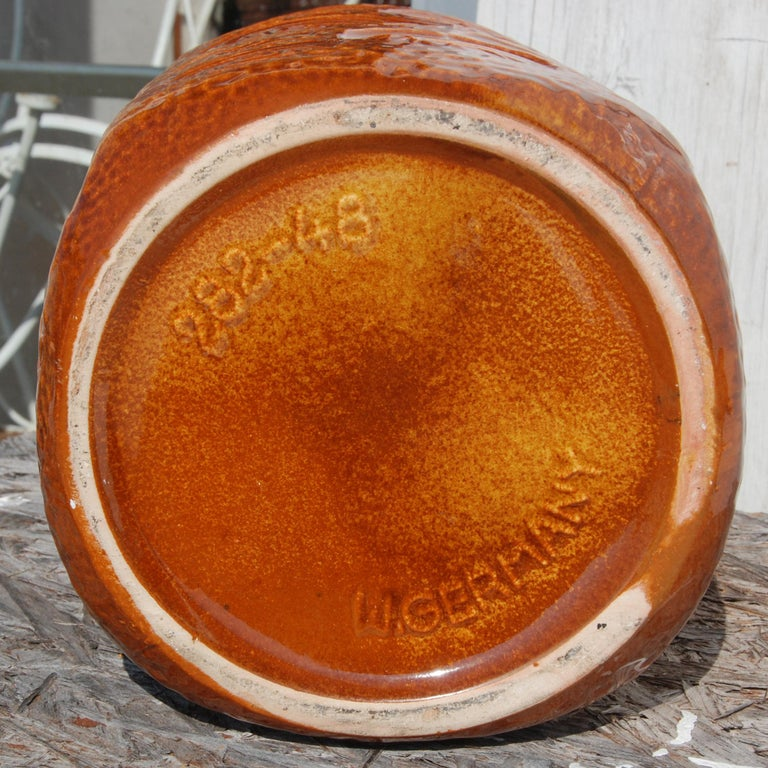 Mid-20th Century West German Amber Floor Vase by Scheurich Pottery, 1960s For Sale