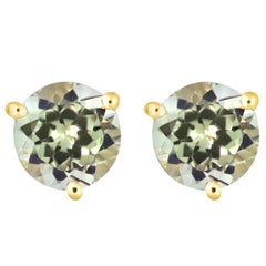 1.90 Carat Color Changing Diaspore Stud Earrings