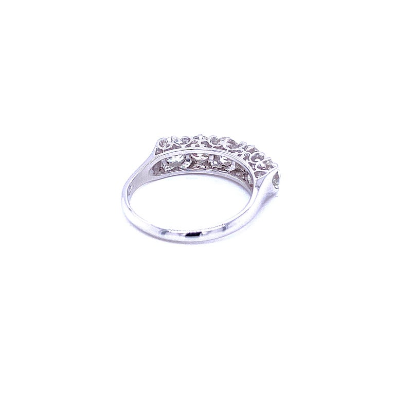 1.90 Carat Diamond Five-Stone Gold Ring For Sale 1