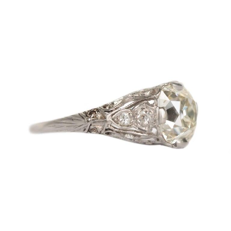 Edwardian 1.90 Carat Platinum Engagement Ring