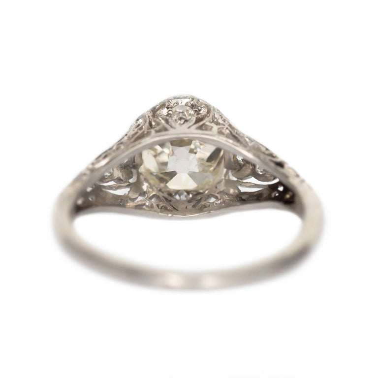 1.90 Carat Platinum Engagement Ring In Excellent Condition In Hicksville, NY