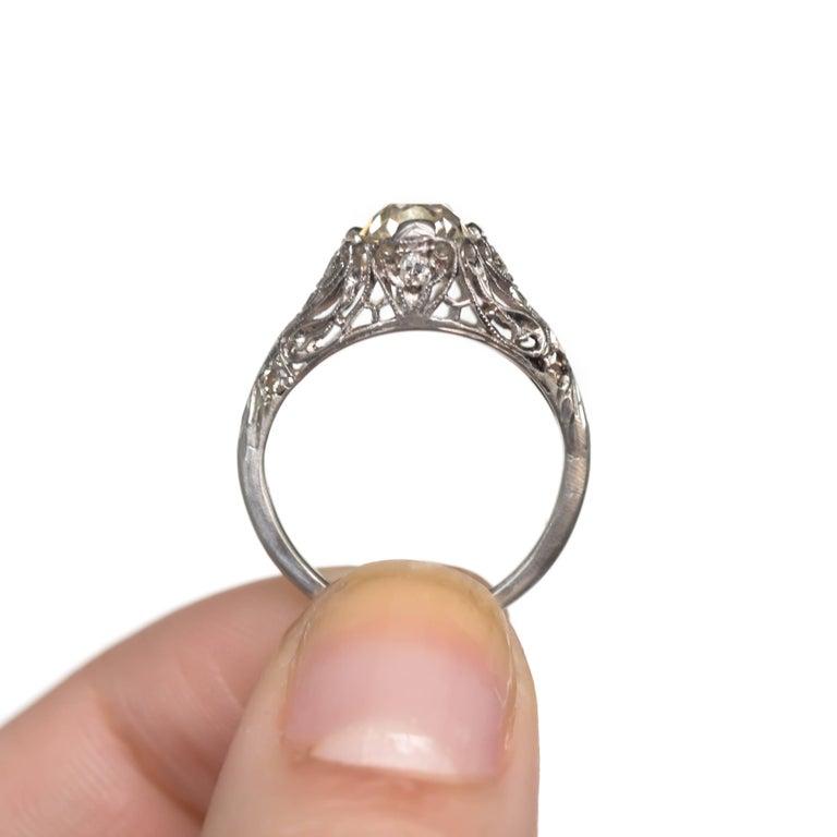 Women's 1.90 Carat Platinum Engagement Ring