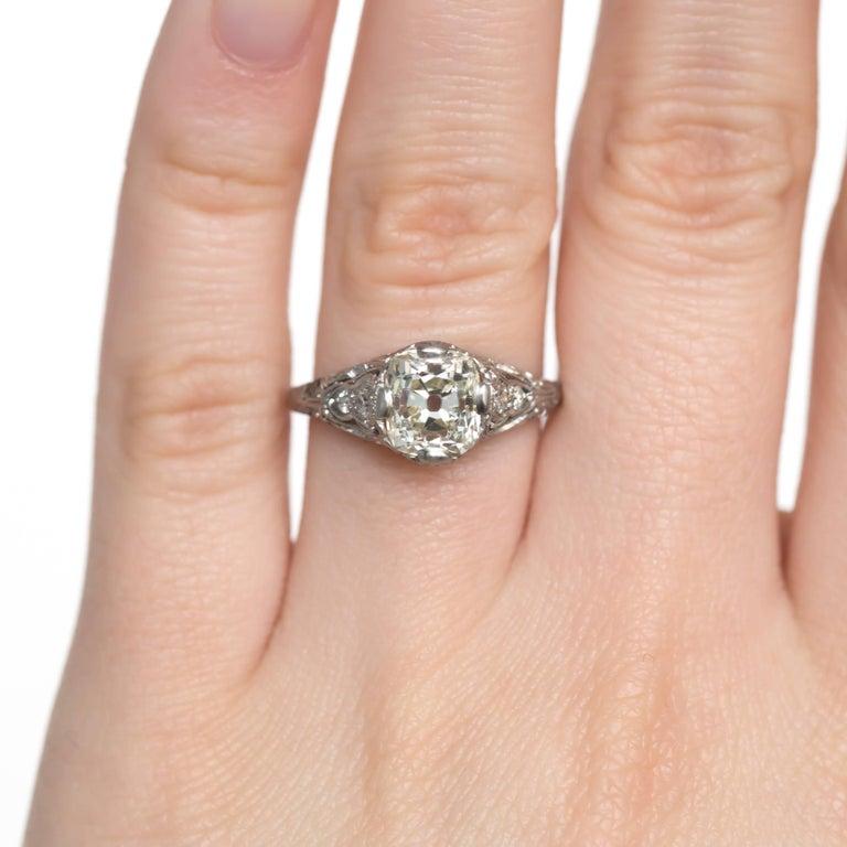 1.90 Carat Platinum Engagement Ring 1