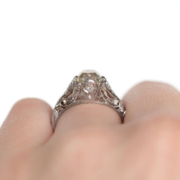1.90 Carat Platinum Engagement Ring 2