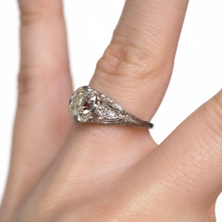 1.90 Carat Platinum Engagement Ring 3