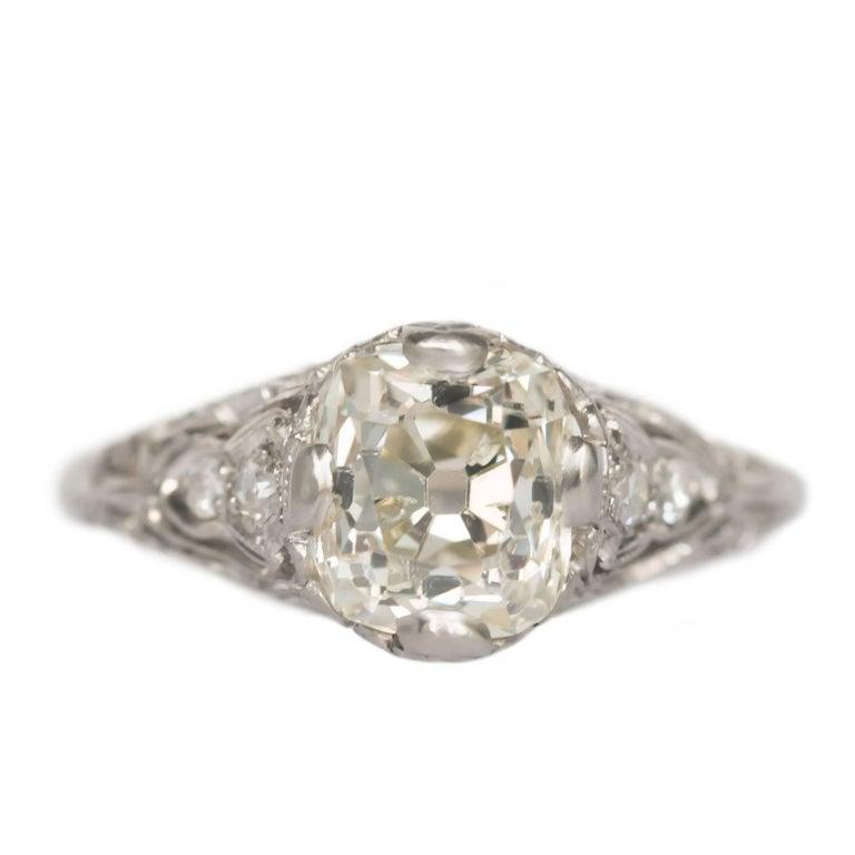 1.90 Carat Platinum Engagement Ring