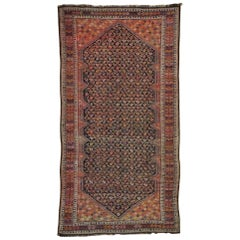1900 Antique Caucasian Hand Knotted Rug Wide and Long Gallery Rug