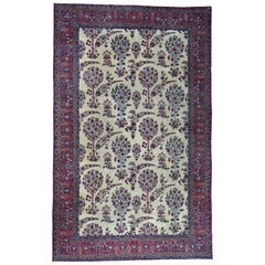 1900 Antique Persian Kerman Rug Tree Design All-Over