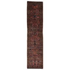 1900 Antique Persian Sarouk Runner Rug