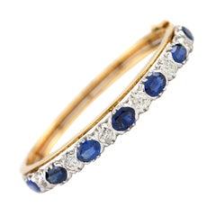 1900 Beautiful Sapphire and Diamond Bangle