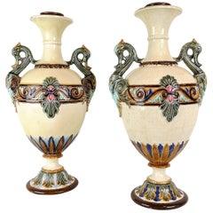 19th Century Pair of Vases Rörstrand, Sweden