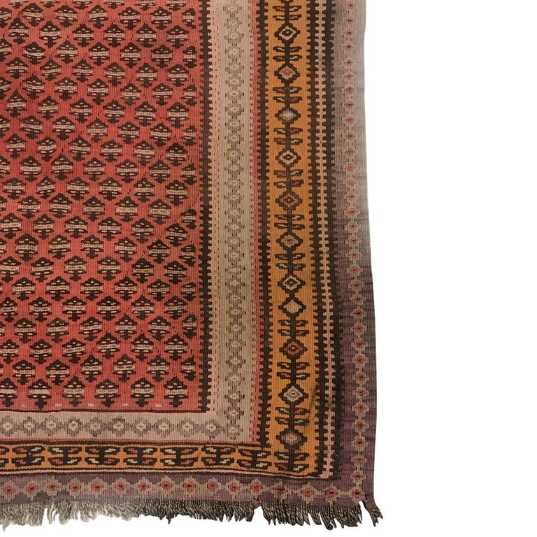 Hand-Woven 1900 Persian Malayer Wool Rug For Sale