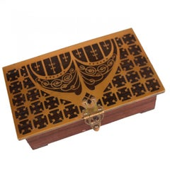 1900 Rosewood Box Art Nouveau by Erhard & Soehne