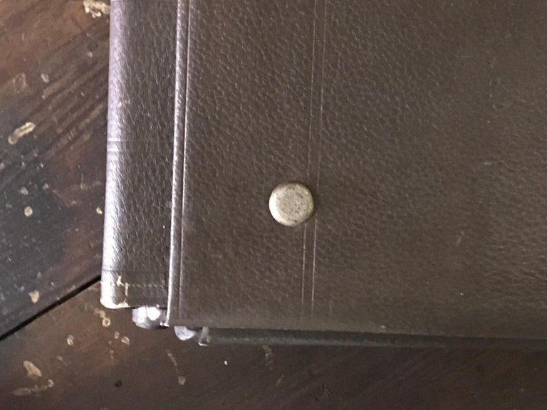 1900 Set of Five French Factory Portfolios in Leather In Good Condition For Sale In Los Angeles, CA
