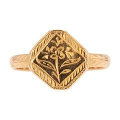 1900s 18 Karat Rose Gold Pansy Ring