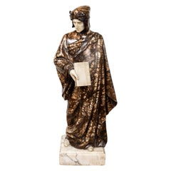 1900's Alabaster Sculpture of Dante