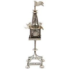 1900s Antique Austro-Hungarian Silver Spice Tower