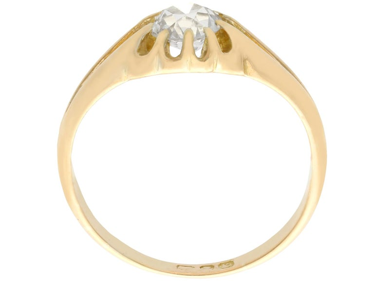 Women's Antique 1900s Diamond and Yellow Gold Ring For Sale