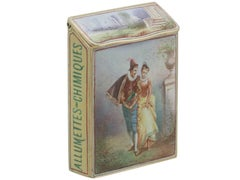 1900s Antique  French Gold & Enamel Vesta Case
