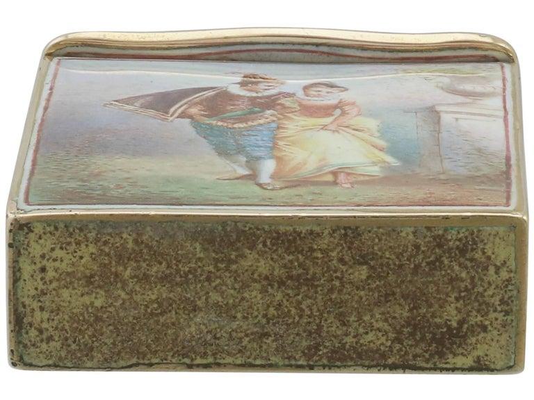 1900s Antique French Gold and Enamel Vesta Case For Sale 6