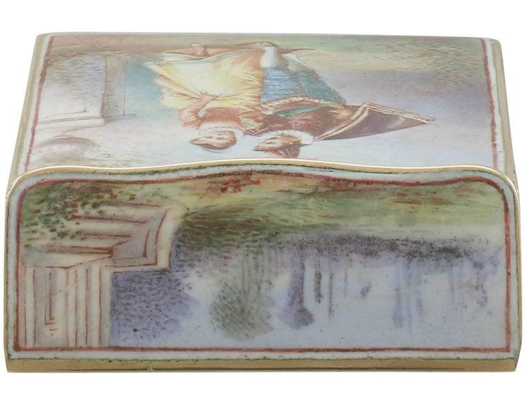 1900s Antique French Gold and Enamel Vesta Case For Sale 7