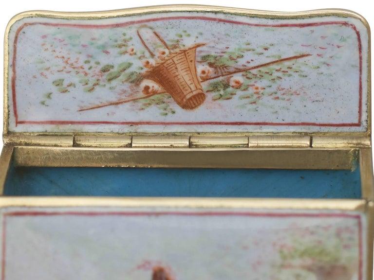 1900s Antique French Gold and Enamel Vesta Case For Sale 8