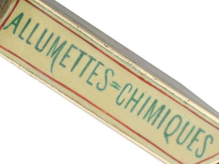 1900s Antique French Gold and Enamel Vesta Case For Sale 4