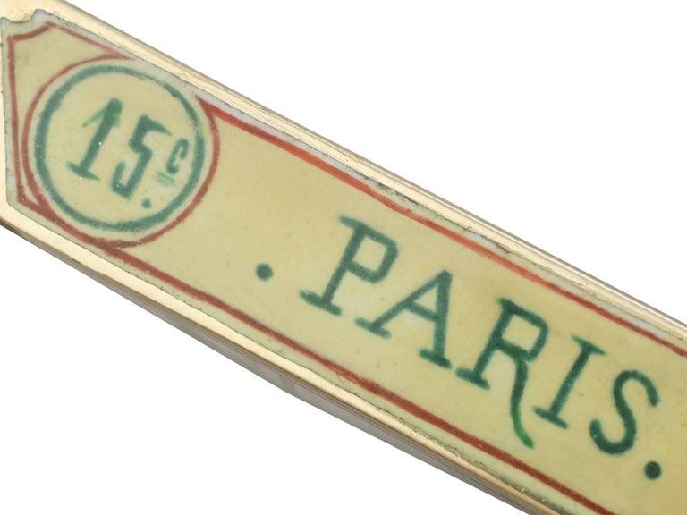 1900s Antique French Gold and Enamel Vesta Case For Sale 5