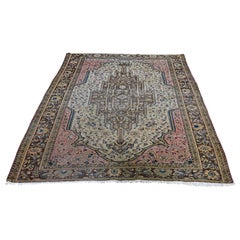 1900s Antique Persian Sarouk Fereghan Wool Handmade Oriental Rug