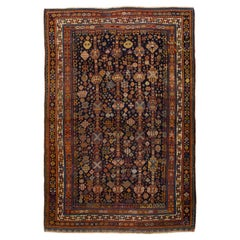 1900s Antique Persian Shiraz Rug with Floral Medallions All-Over