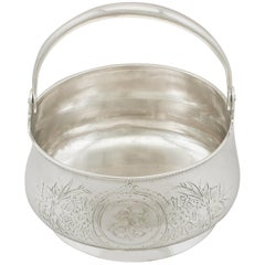 1900s Antique Russian Silver Basket