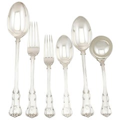 1900s Antique Victorian Sterling Silver Canteen of Cutlery for Twelve Persons