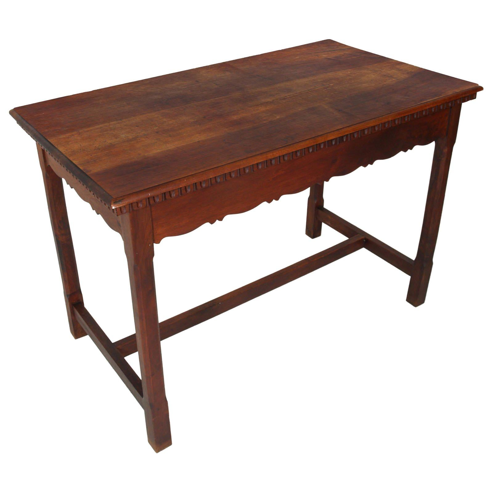 1900s Wiener Occasional table or writing desk in Walnut Restored wax Polished