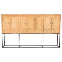 1900s Belgian Wooden Cabinet