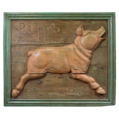 1900s Butcher's Pig Trade Sign