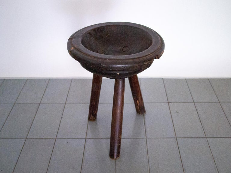 Brazilian 1900s Catch-All or Fruit Bowl Tray Table in Hardwood, Brazil For Sale